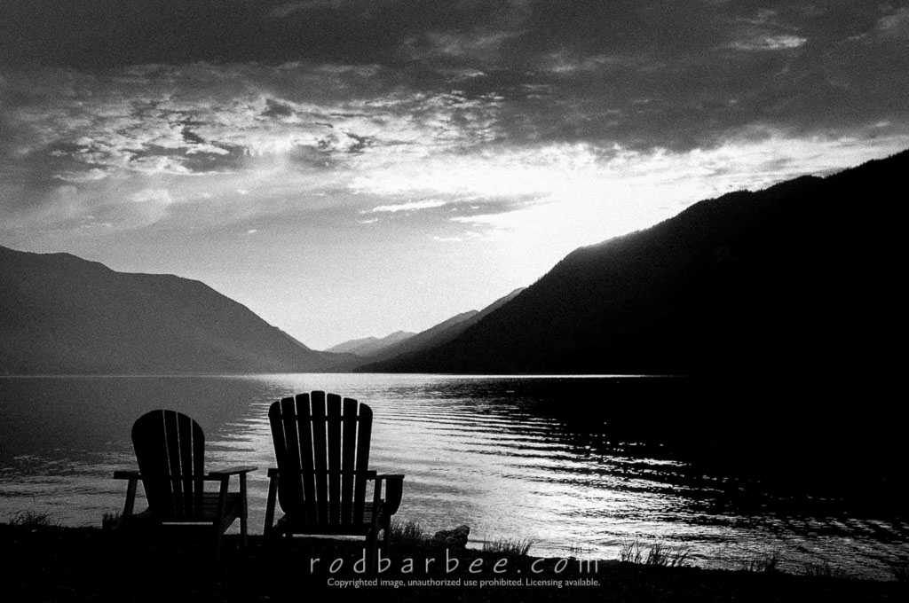 Barbee_120719_3_6840 | Adirondack chairs on the shore of Lake Crescent