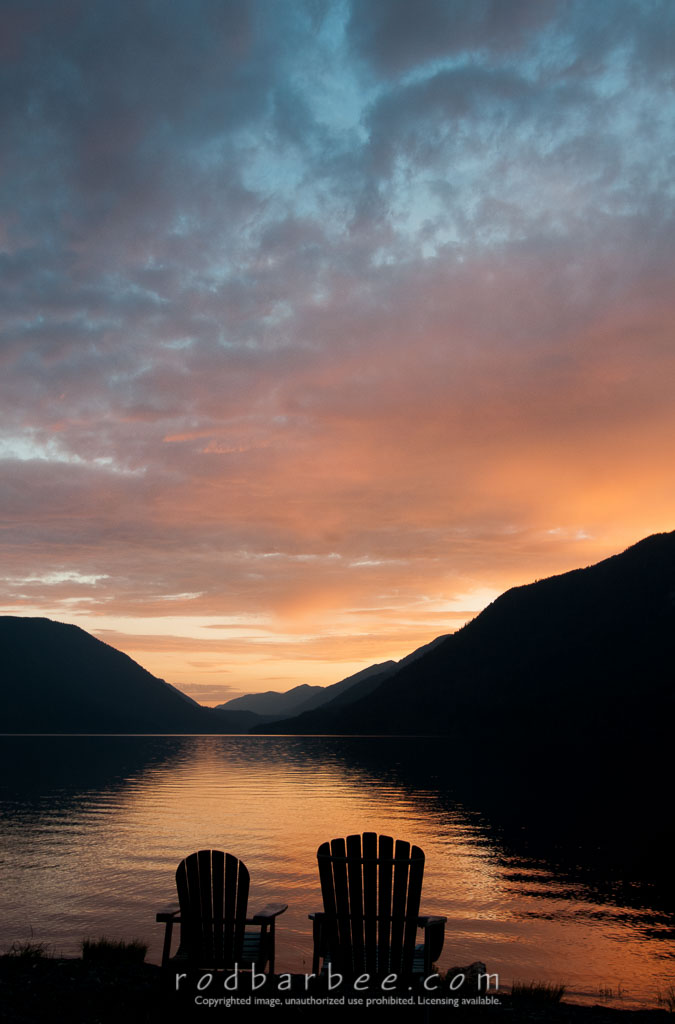 Barbee_120719_3_6853-Edit | Adirondack chairs on the shore of Lake Crescent, sunset