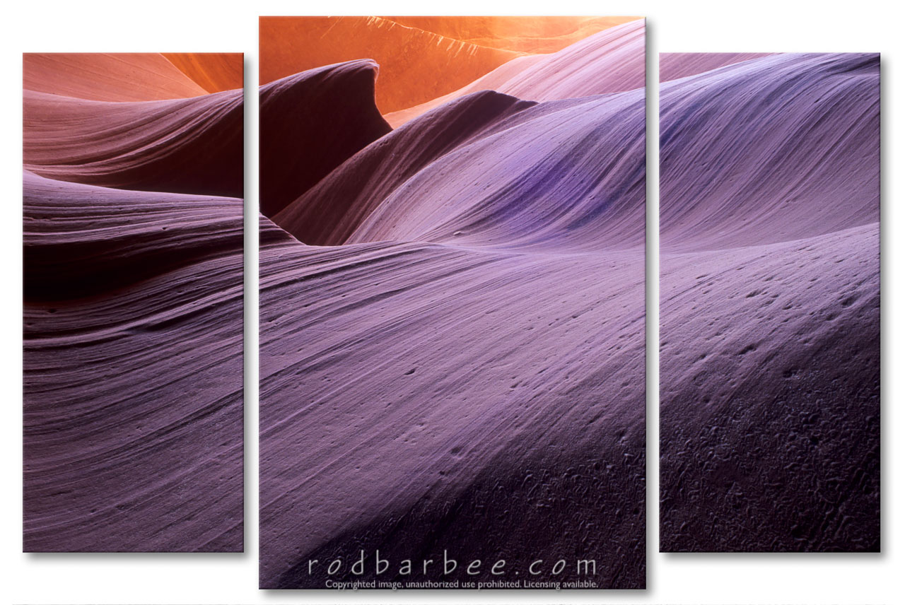 barbee_11116-panel |  Sandstone wall striations in Lower Antelope Canyon, Page, AZ